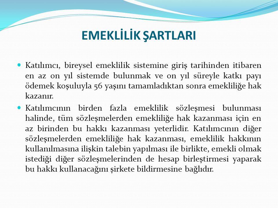 EMEKLİLİK ŞARTLARI