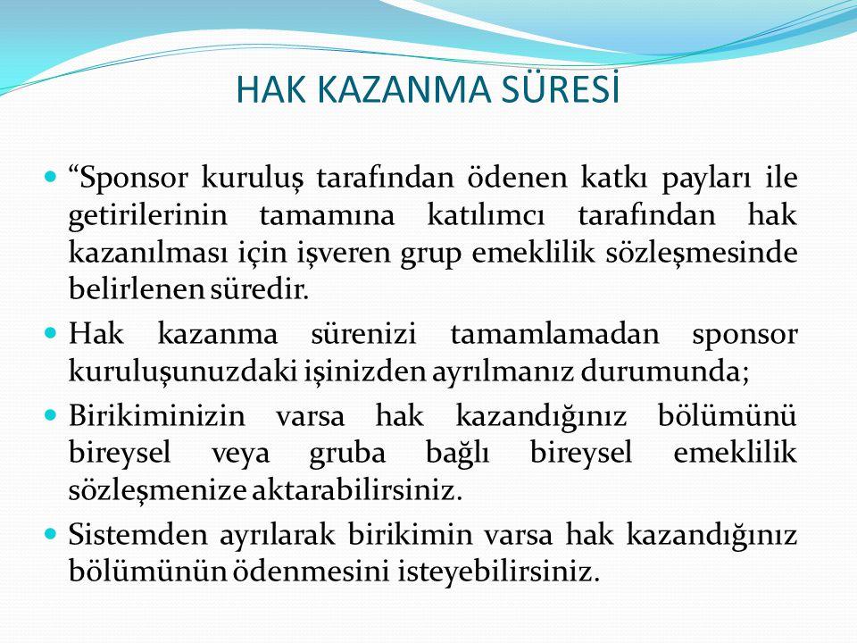 HAK KAZANMA SÜRESİ