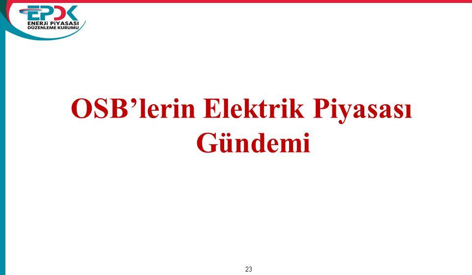 OSB'lerin Elektrik Piyasası Gündemi