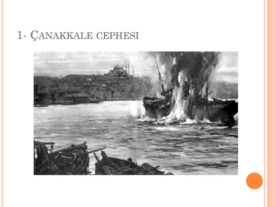1- Çanakkale cephesi