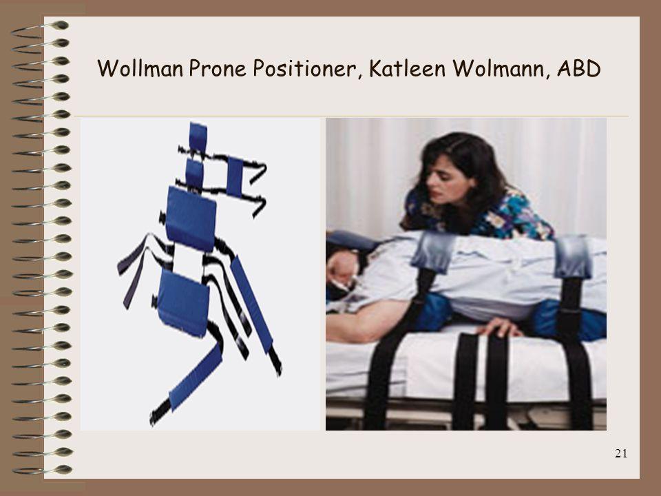 Wollman Prone Positioner, Katleen Wolmann, ABD