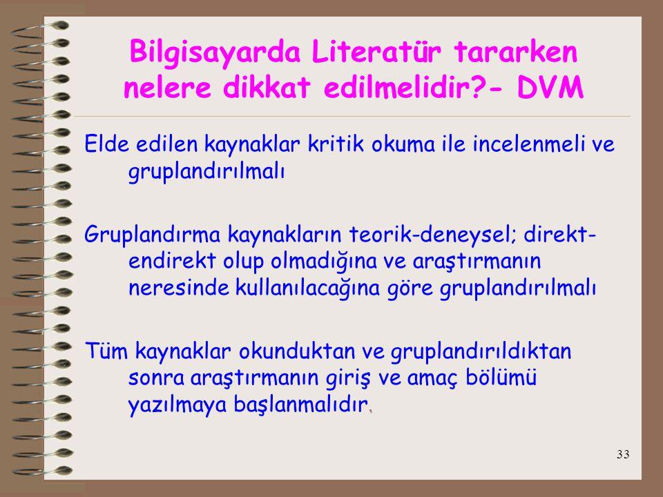 Bilgisayarda Literatür tararken nelere dikkat edilmelidir - DVM
