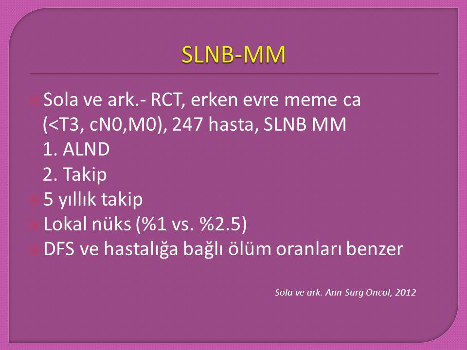 SLNB-MM Sola ve ark.- RCT, erken evre meme ca