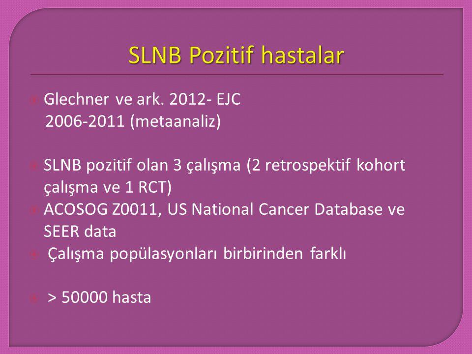 SLNB Pozitif hastalar Glechner ve ark. 2012- EJC