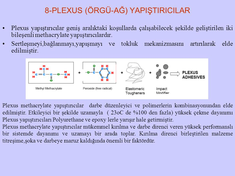 8-PLEXUS (ÖRGÜ-AĞ) YAPIŞTIRICILAR