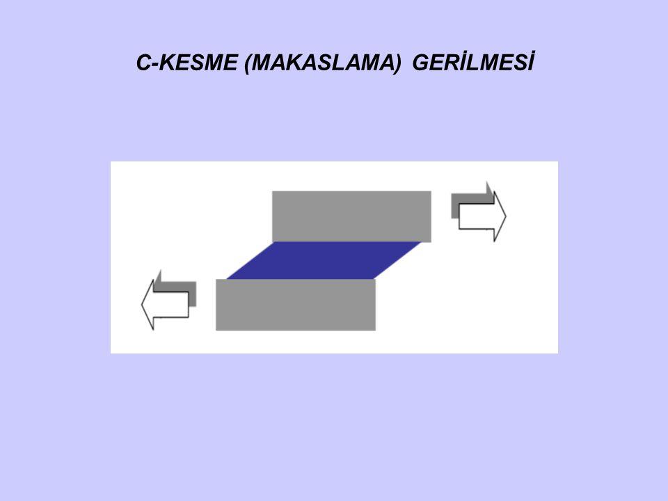 C-KESME (MAKASLAMA) GERİLMESİ