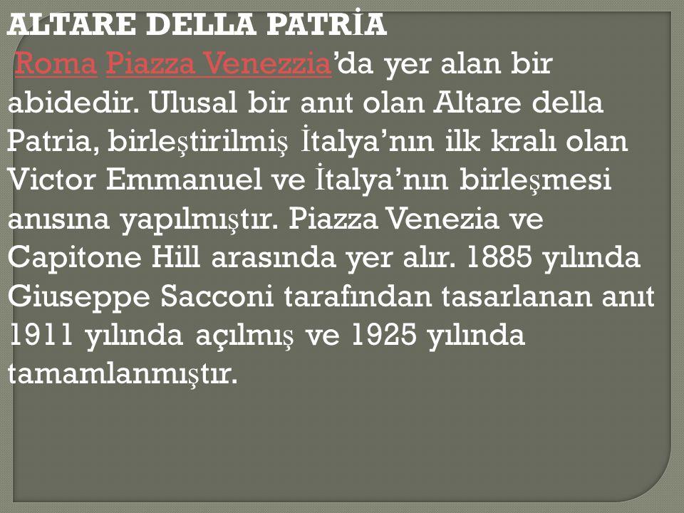 ALTARE DELLA PATRİA