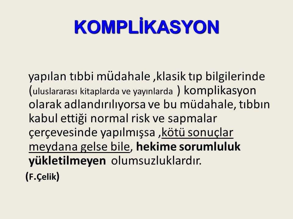 KOMPLİKASYON