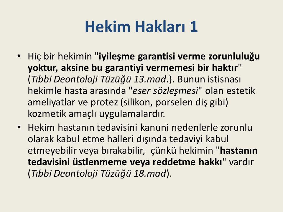 Hekim Hakları 1