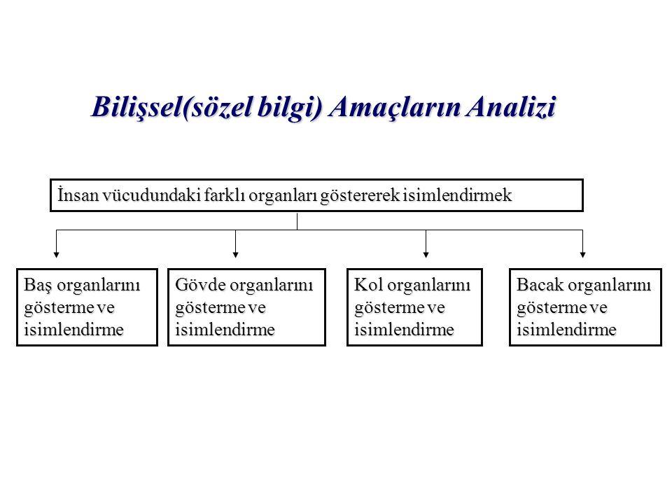 Bilişsel(sözel bilgi) Amaçların Analizi