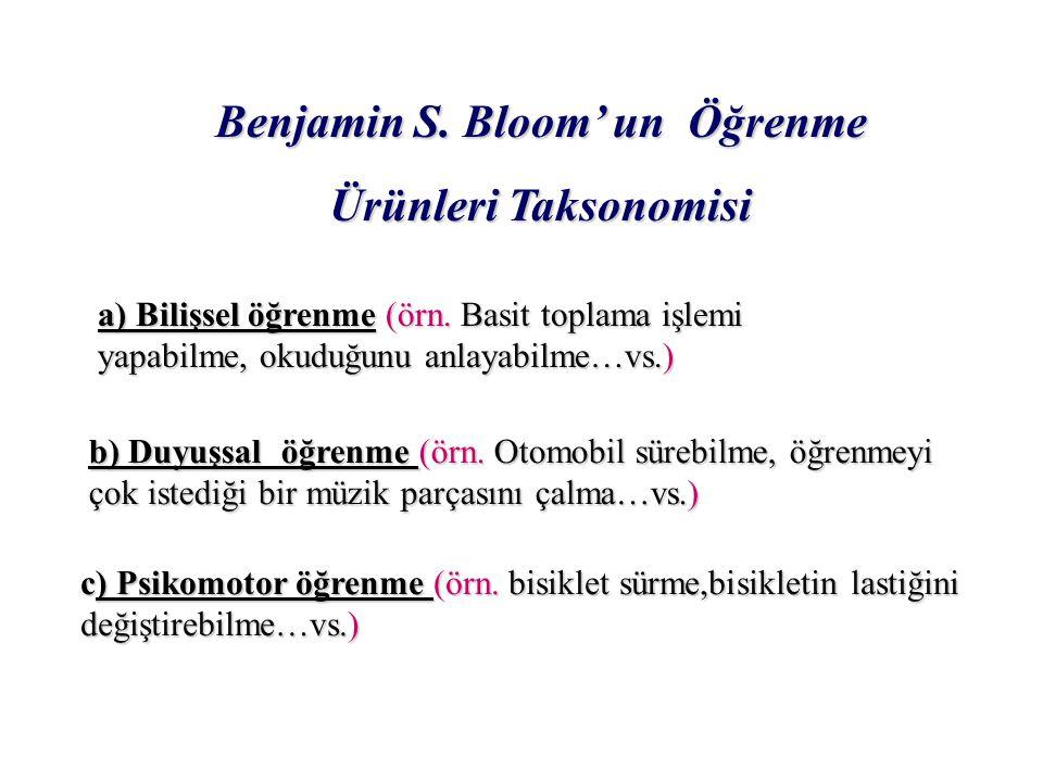 Benjamin S. Bloom' un Öğrenme