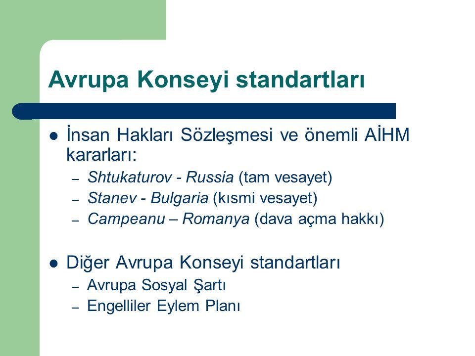Avrupa Konseyi standartları