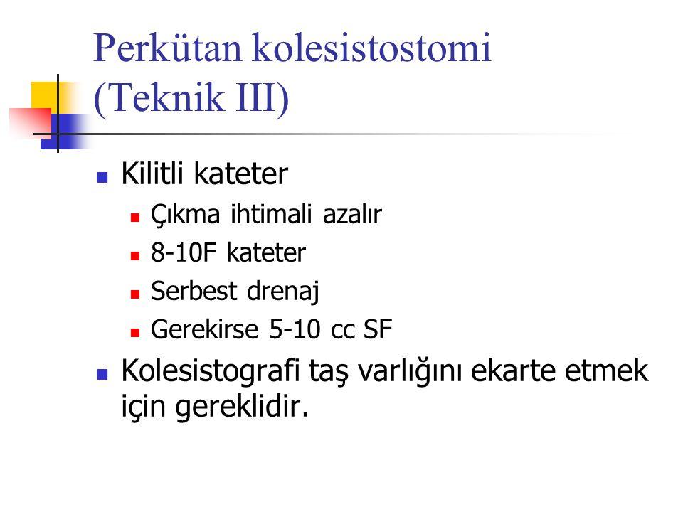 Perkütan kolesistostomi (Teknik III)