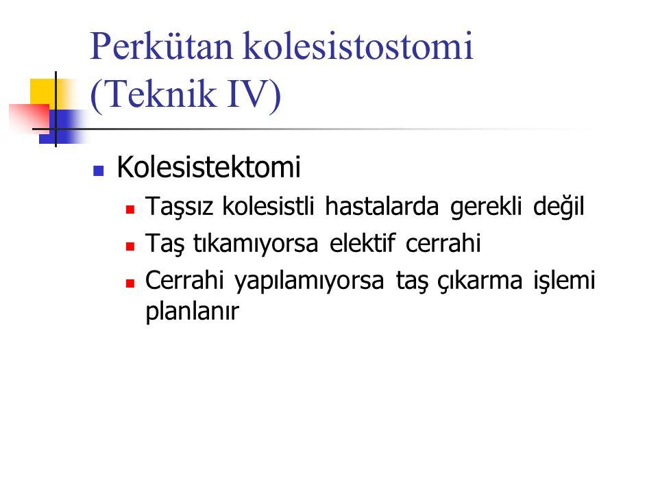 Perkütan kolesistostomi (Teknik IV)
