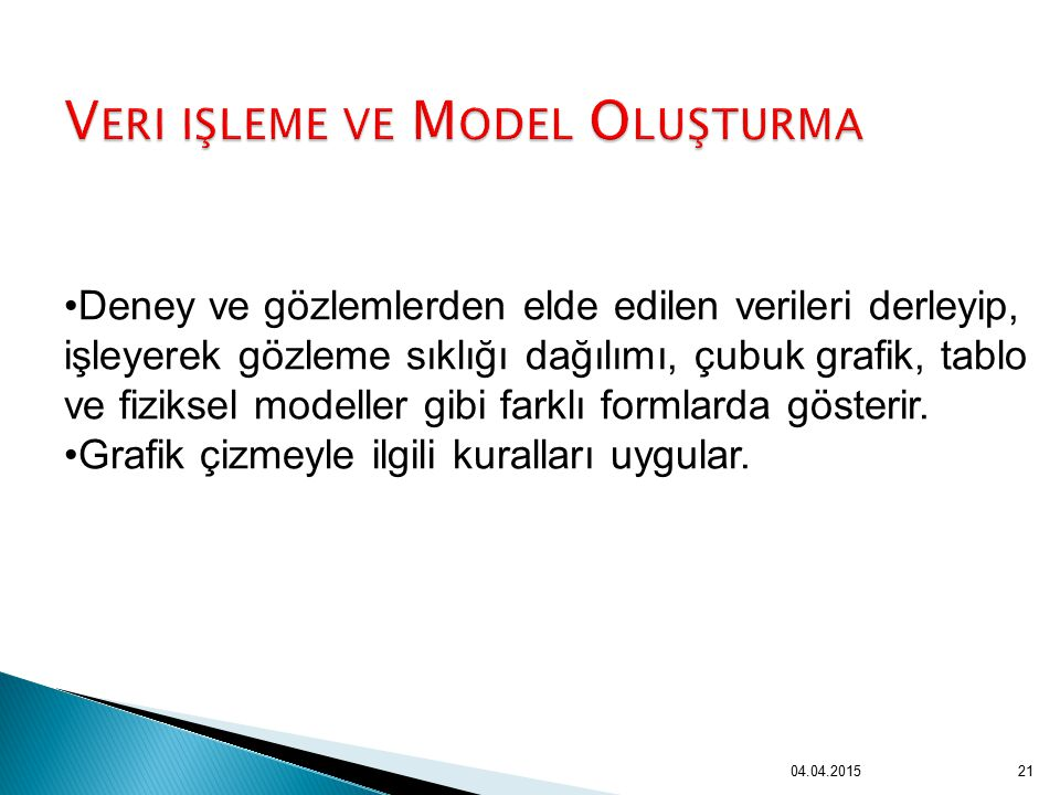 Veri işleme ve Model Oluşturma