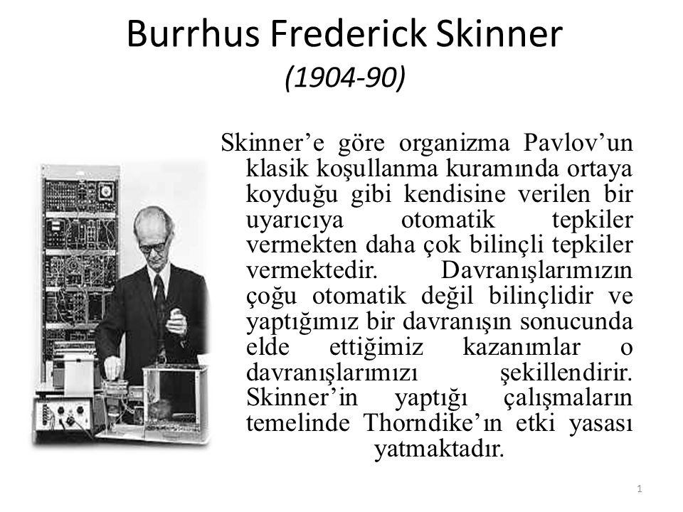Burrhus Frederick Skinner (1904-90)