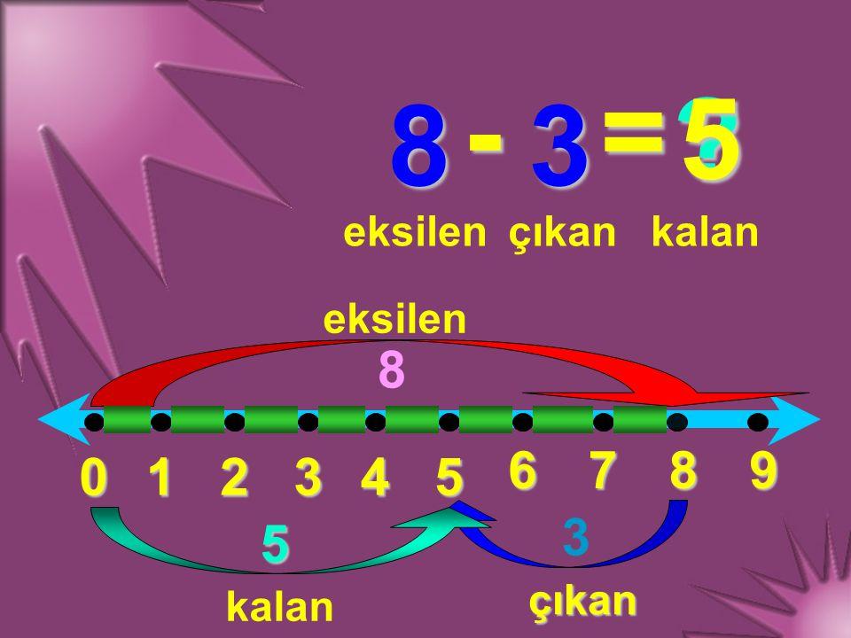 - = 5 8 3 8 6 7 8 9 1 2 3 4 5 3 5 eksilen çıkan kalan eksilen çıkan