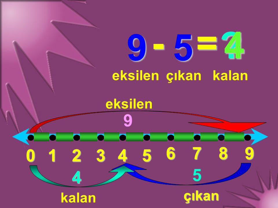 - = 4 9 5 9 6 7 8 9 1 2 3 4 5 5 4 eksilen çıkan kalan eksilen çıkan