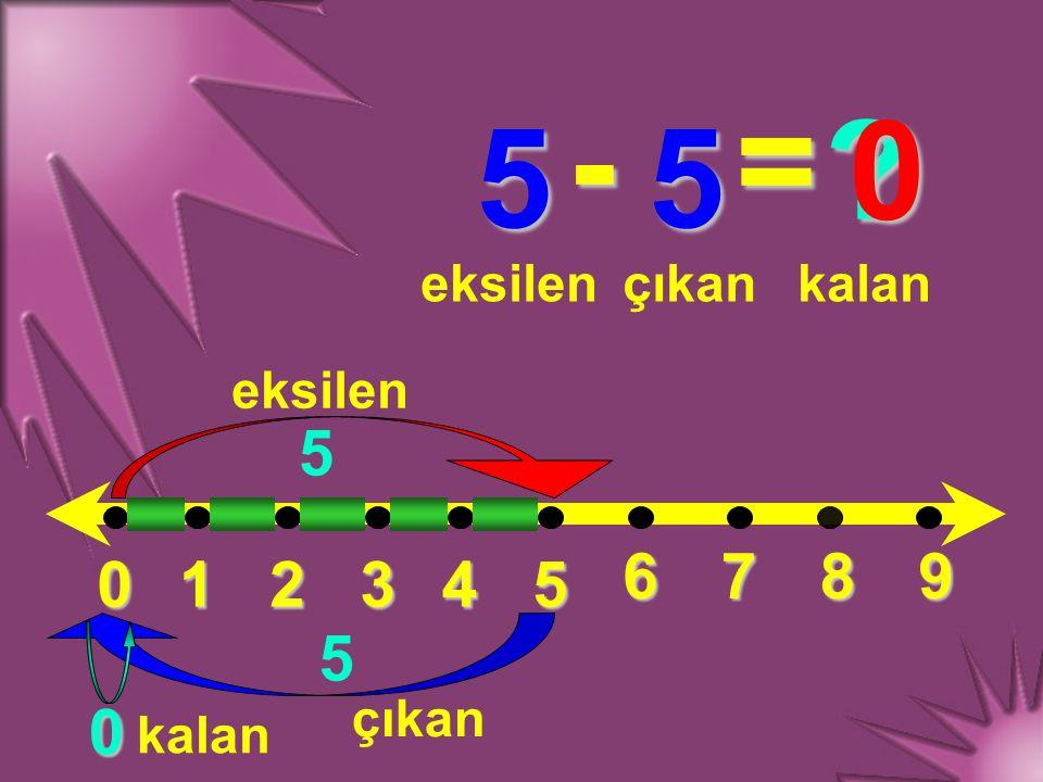 - = 5 5 5 6 7 8 9 1 2 3 4 5 5 eksilen çıkan kalan eksilen çıkan