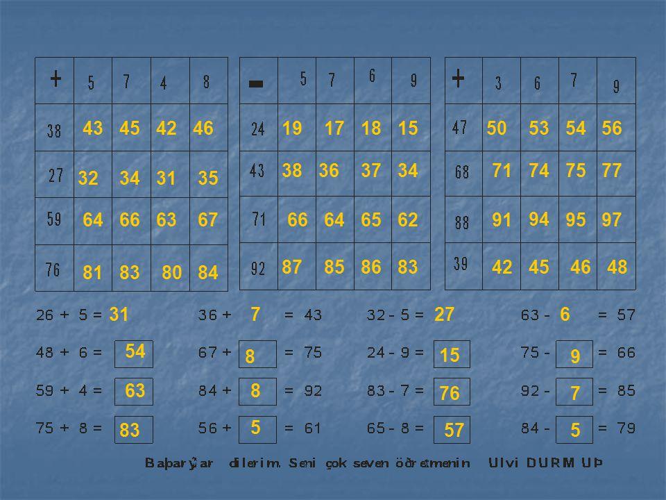 43 45. 42. 46. 19. 17. 18. 15. 50. 53. 54. 56. 38. 36. 37. 34. 71. 74. 75. 77. 32.