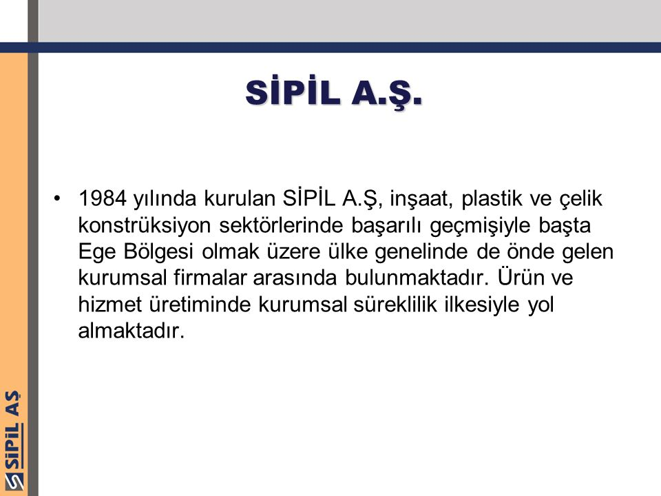 SİPİL A.Ş.