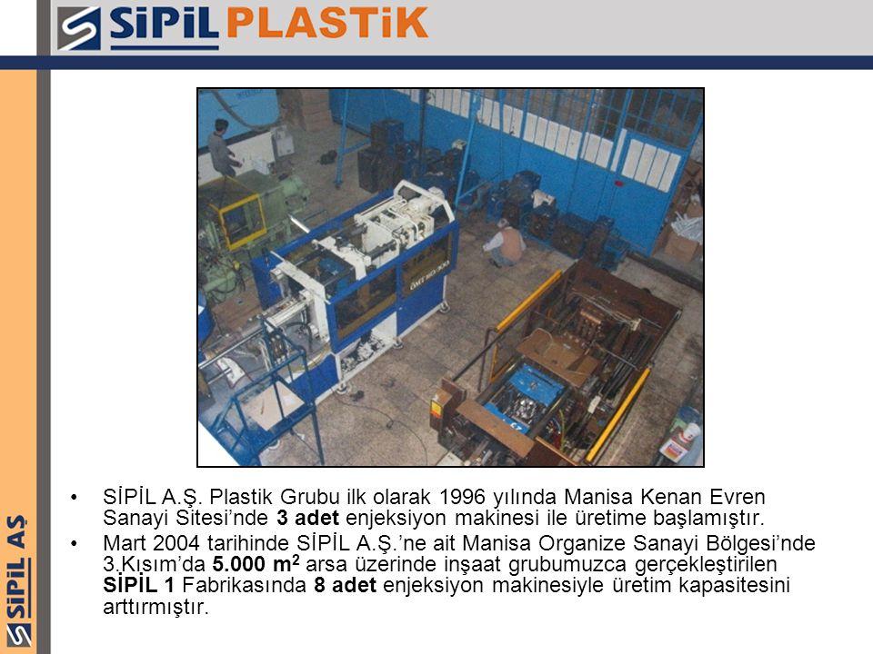 SİPİL A.Ş. Plastik Grubu ilk olarak 1996 yılında Manisa Kenan Evren Sanayi Sitesi'nde 3 adet enjeksiyon makinesi ile üretime başlamıştır.