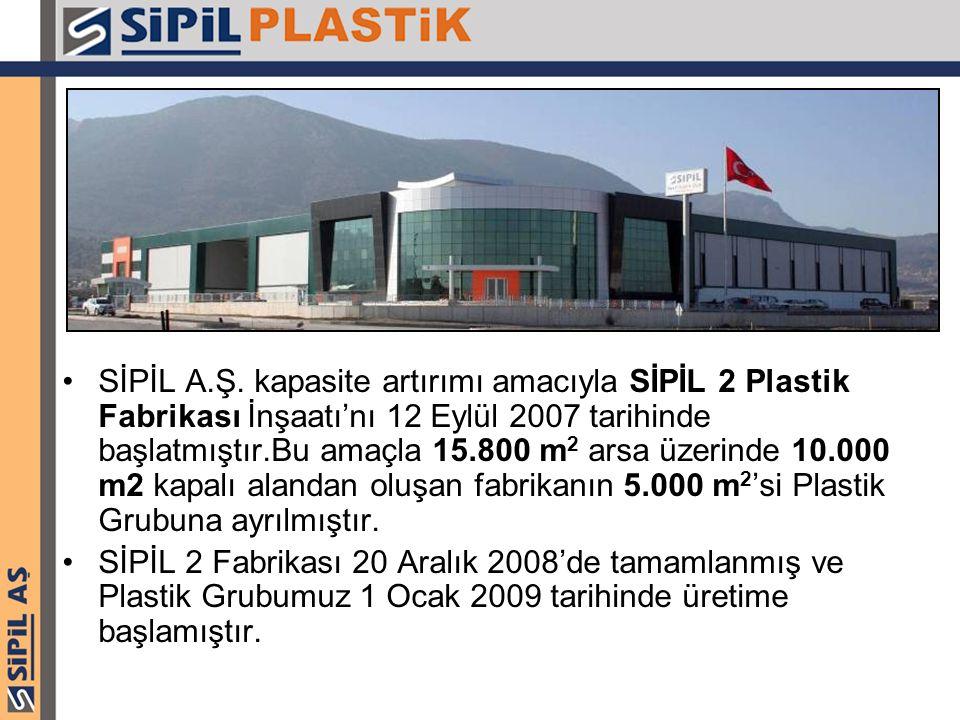 SİPİL A.Ş. kapasite artırımı amacıyla SİPİL 2 Plastik Fabrikası İnşaatı'nı 12 Eylül 2007 tarihinde başlatmıştır.Bu amaçla 15.800 m2 arsa üzerinde 10.000 m2 kapalı alandan oluşan fabrikanın 5.000 m2'si Plastik Grubuna ayrılmıştır.