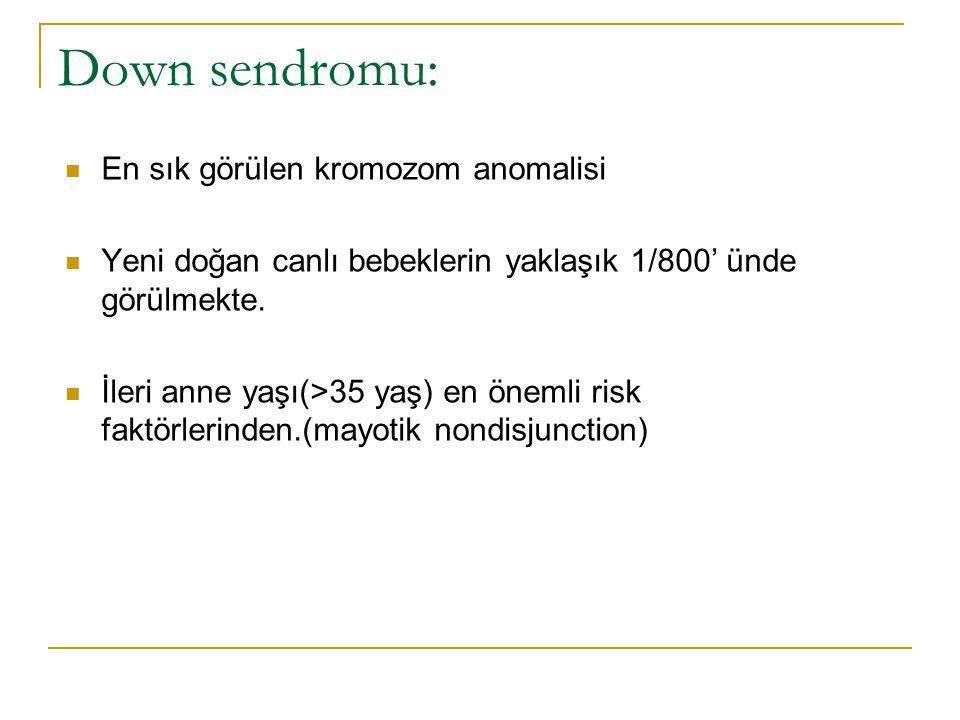 Down sendromu: En sık görülen kromozom anomalisi