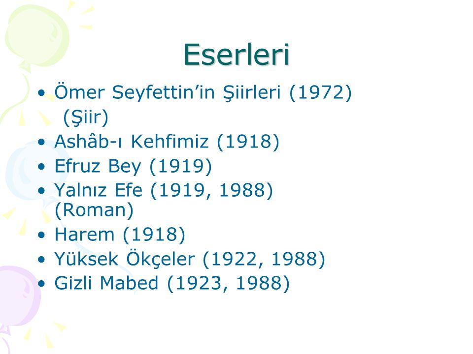 Eserleri Ömer Seyfettin'in Şiirleri (1972) (Şiir)