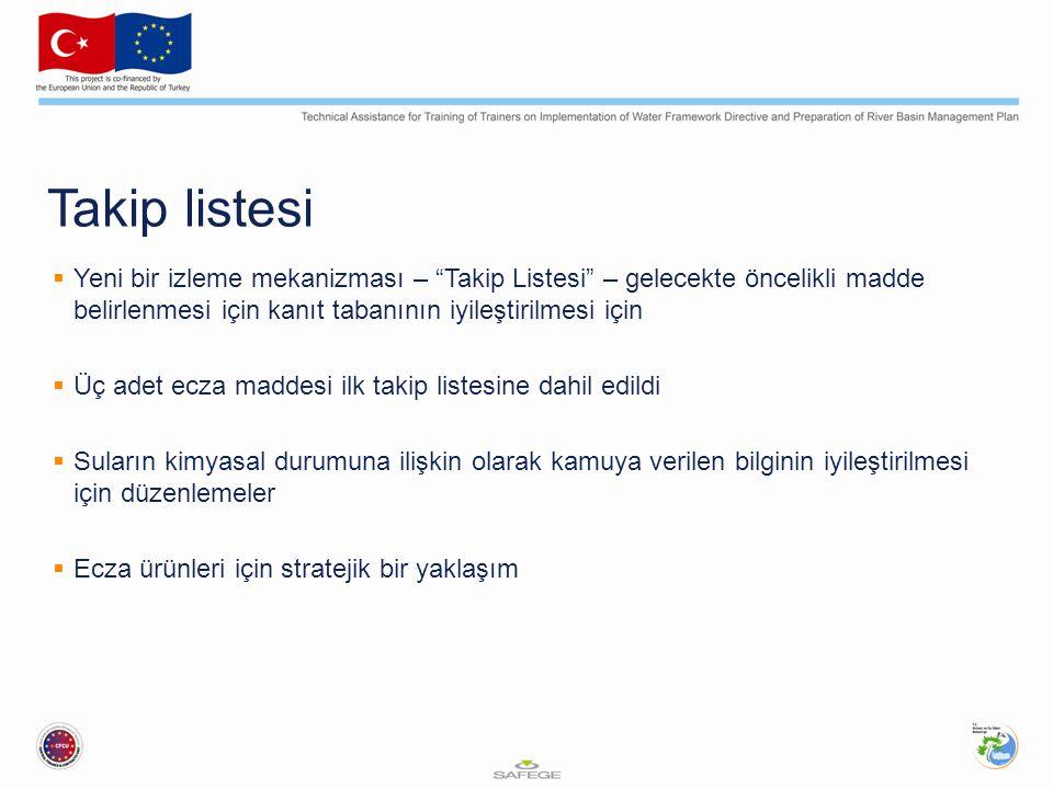 Takip listesi Yeni bir izleme mekanizması – Takip Listesi – gelecekte öncelikli madde belirlenmesi için kanıt tabanının iyileştirilmesi için.