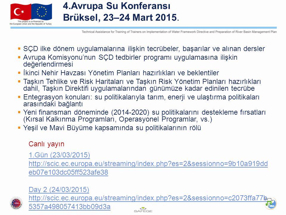 4.Avrupa Su Konferansı Brüksel, 23–24 Mart 2015.