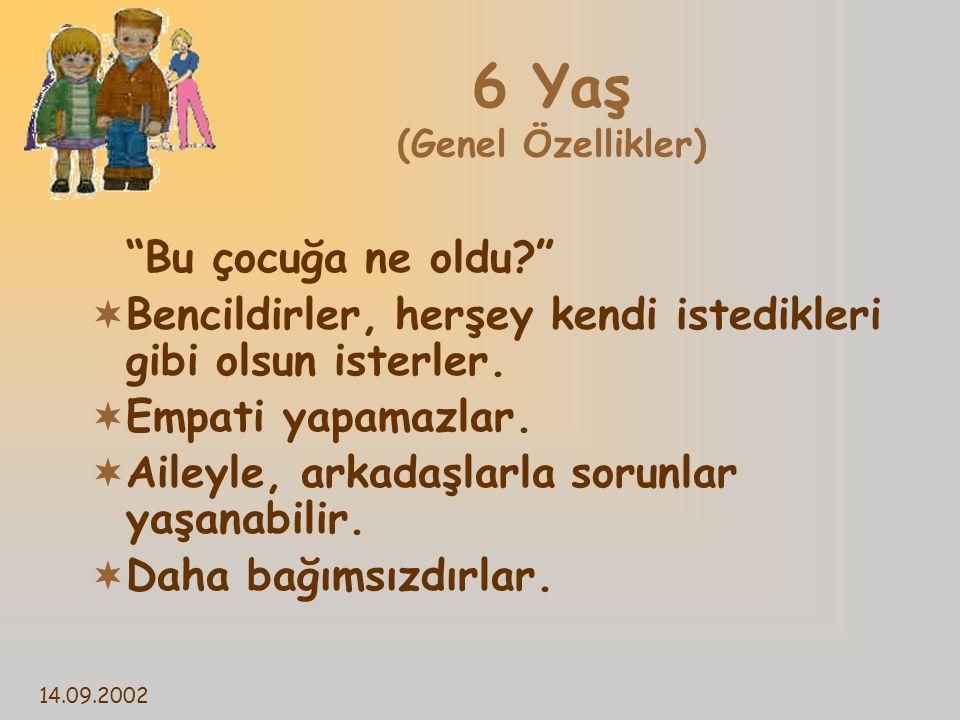 6 Yaş (Genel Özellikler)