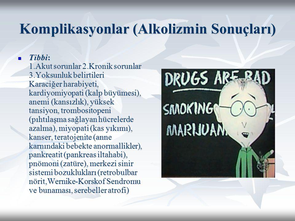 Komplikasyonlar (Alkolizmin Sonuçları)
