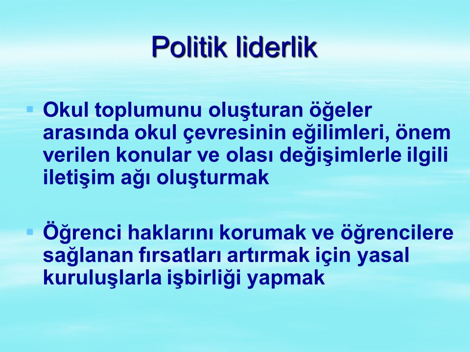 Politik liderlik