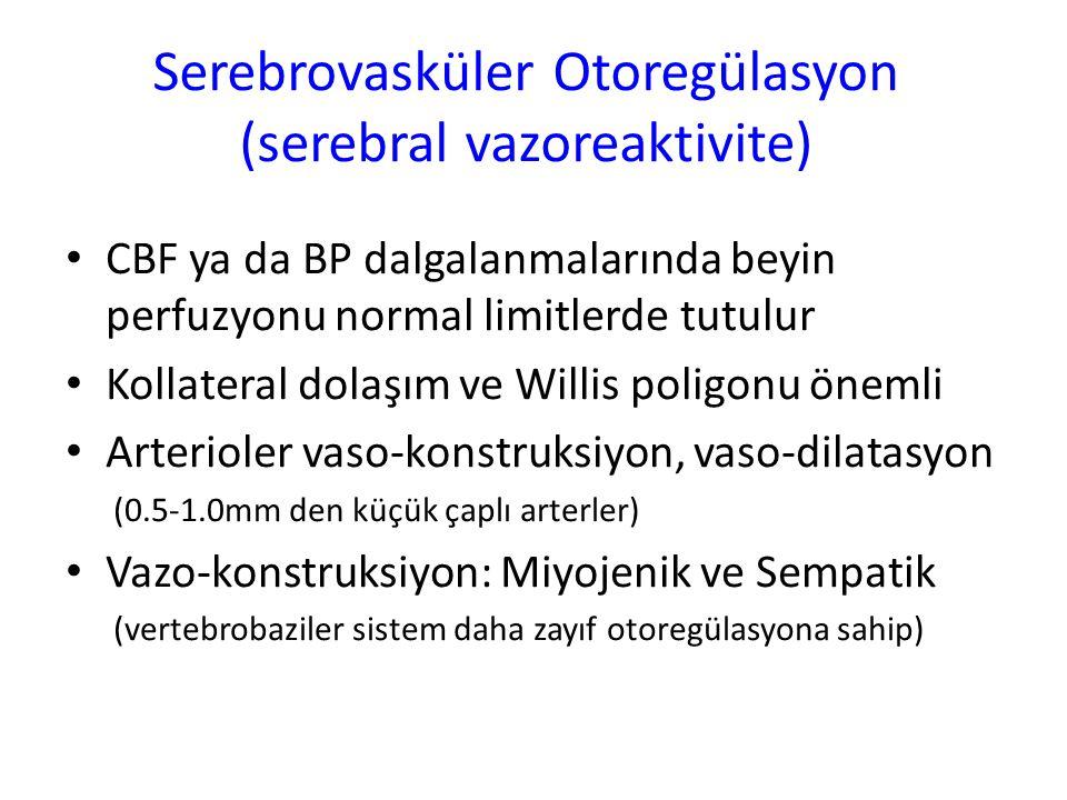 Serebrovasküler Otoregülasyon (serebral vazoreaktivite)