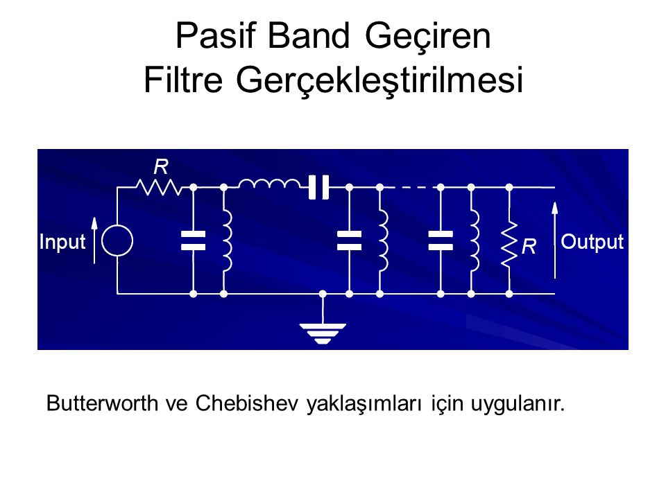 Pasif Band Geçiren Filtre Gerçekleştirilmesi