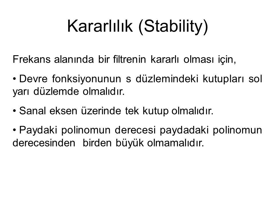 Kararlılık (Stability)