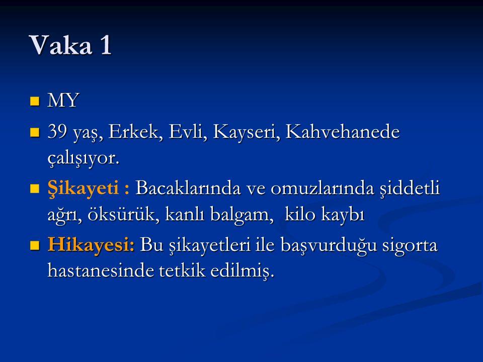 Vaka 1 MY 39 yaş, Erkek, Evli, Kayseri, Kahvehanede çalışıyor.