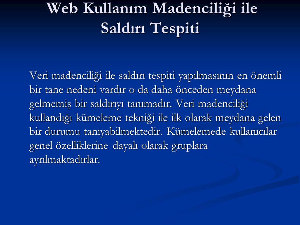 Web Kullanım Madenciliği ile Saldırı Tespiti