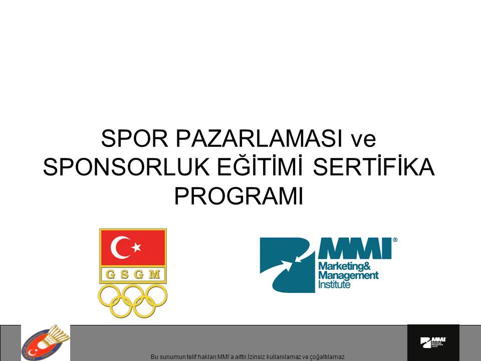 SPOR PAZARLAMASI ve SPONSORLUK EĞİTİMİ SERTİFİKA PROGRAMI