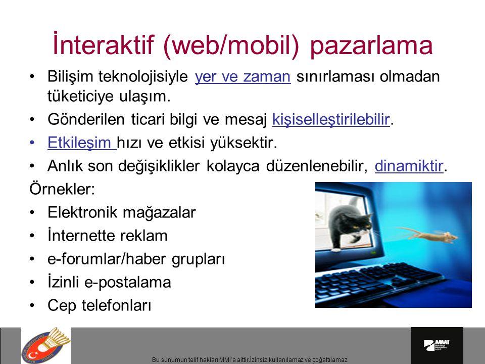 İnteraktif (web/mobil) pazarlama