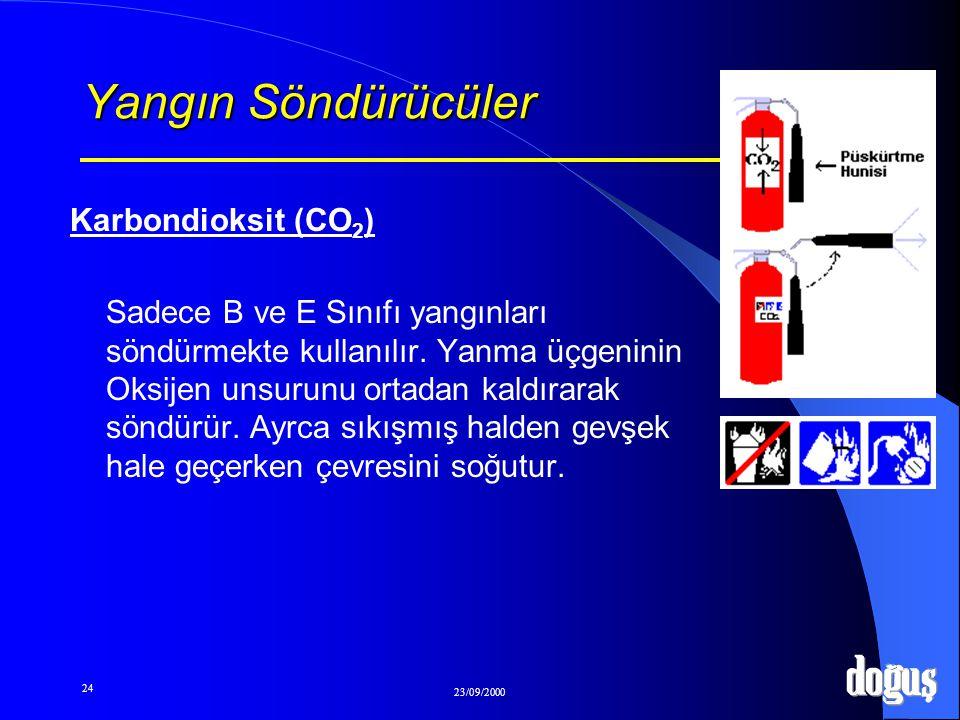 Yangın Söndürücüler Karbondioksit (CO2)