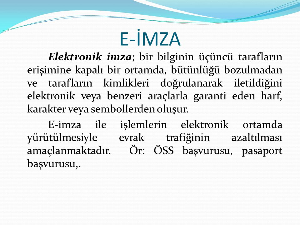 E-İMZA