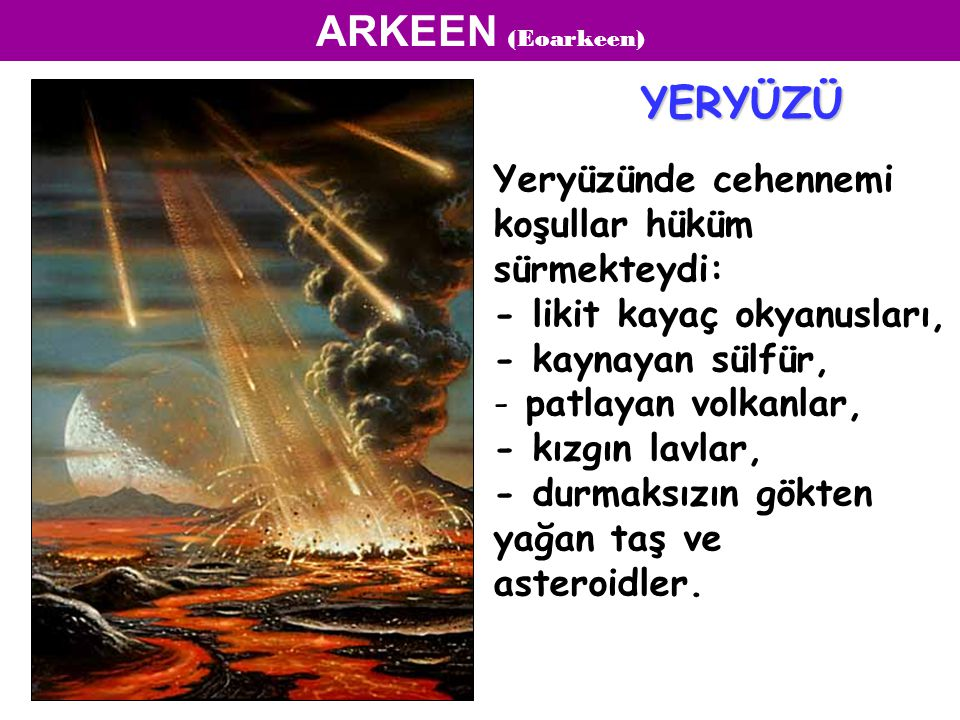 ARKEEN (Eoarkeen) YERYÜZÜ