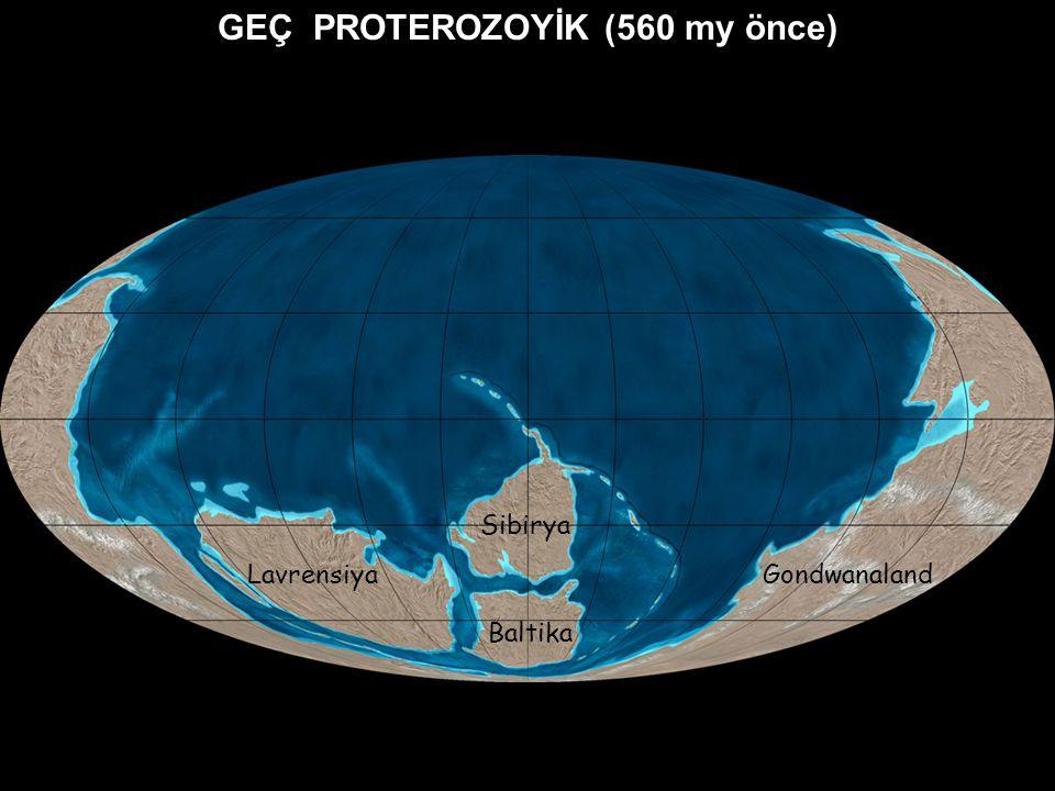 GEÇ PROTEROZOYİK (560 my önce)