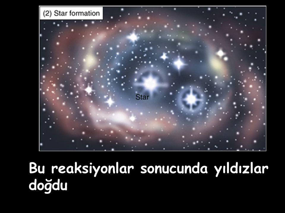 Bu reaksiyonlar sonucunda yıldızlar doğdu