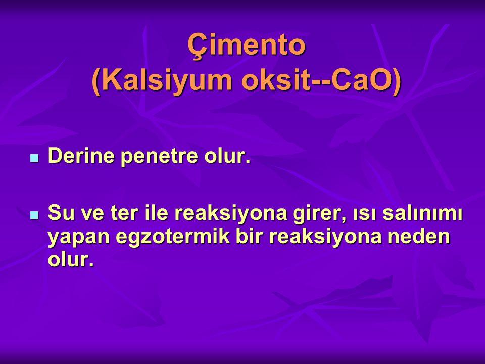 Çimento (Kalsiyum oksit--CaO)