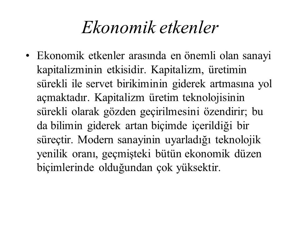 Ekonomik etkenler
