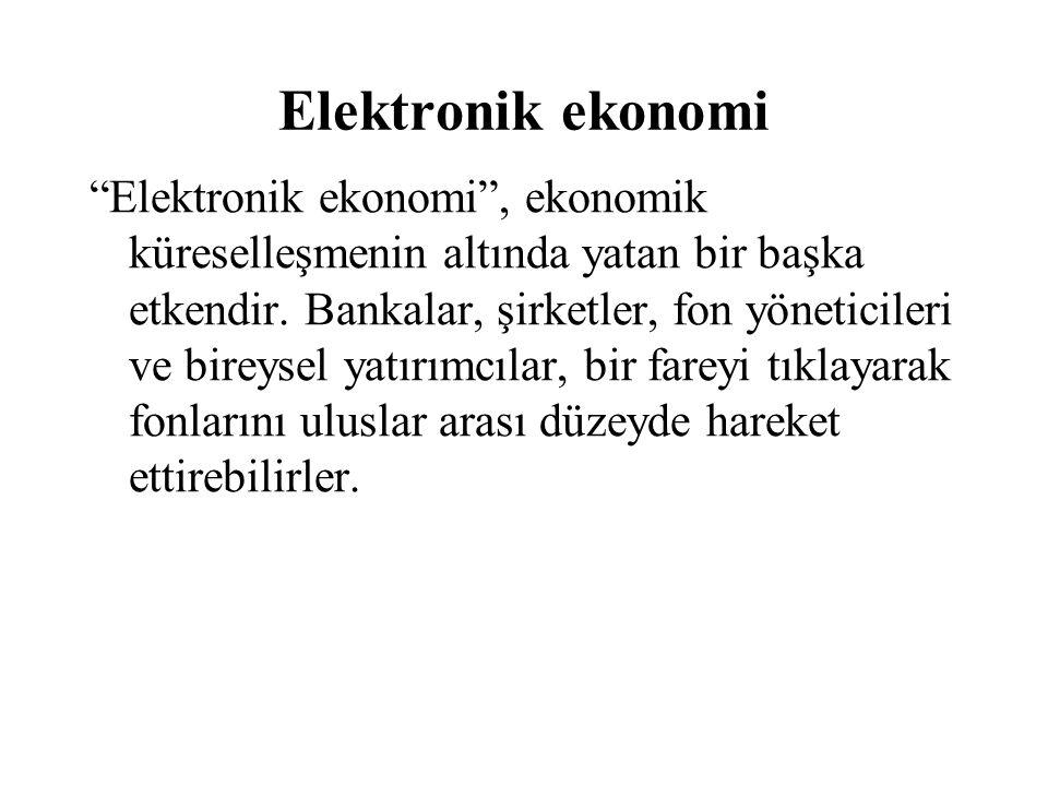 Elektronik ekonomi