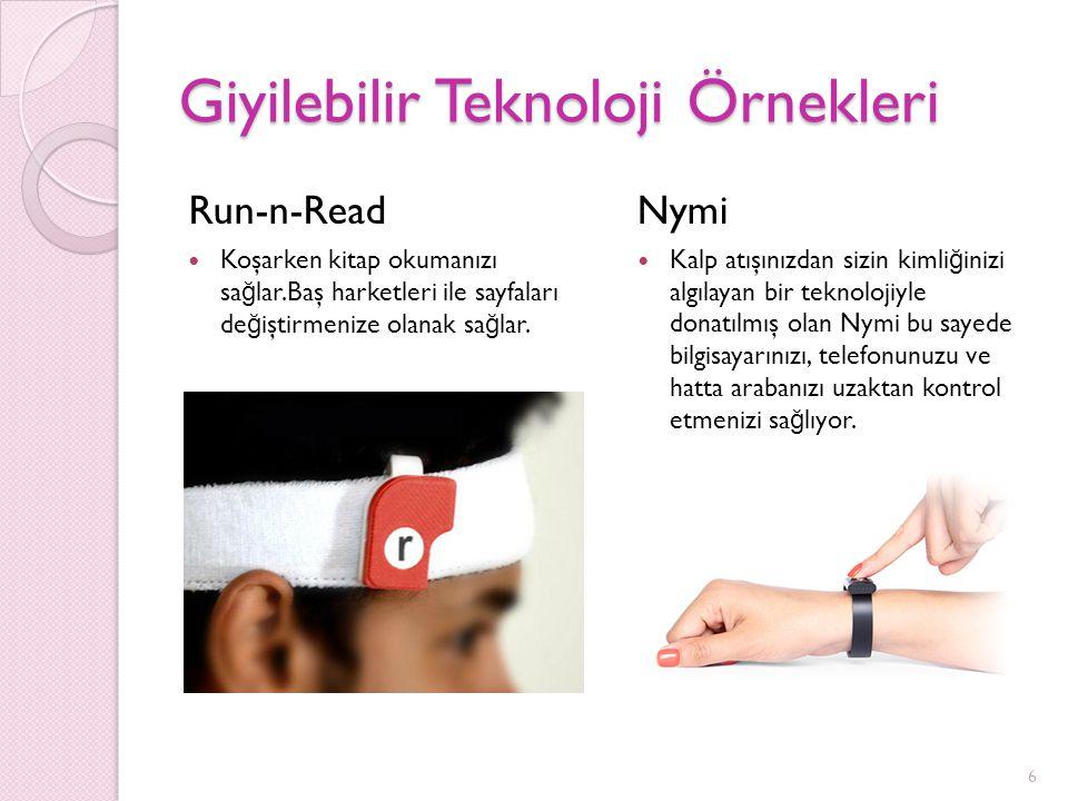 Giyilebilir Teknoloji Örnekleri